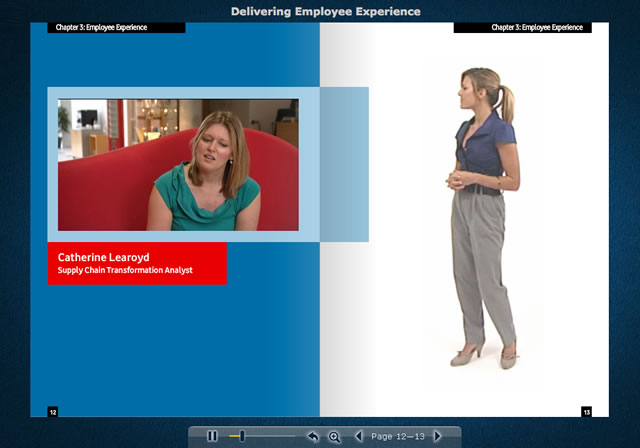 Sample e-learning containing video